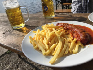 Currywurst and Fries in Munich